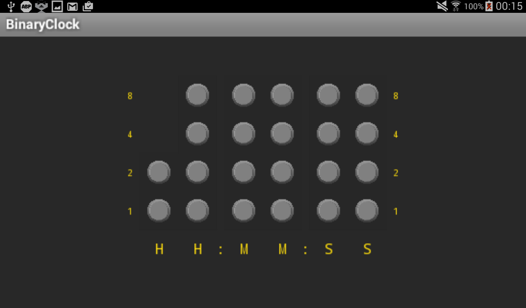 how to set binary clock